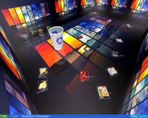 لتحويل سطح المكتب الى غرفة مرحه real desktop برنامج